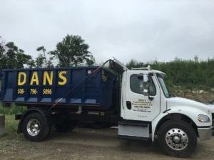 Dumpster Rental truck in Lancaster MA