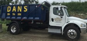 photo of a dumpster rental truck